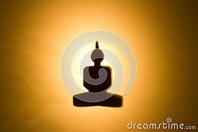 Silhouette of Buddha.