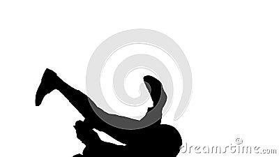Silhouette Businessman de fato quebra movimentos de dança filme
