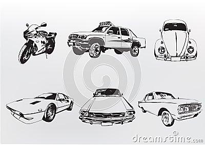 Silhouette cars.