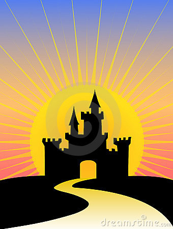 Silhouette Castle Sunrise