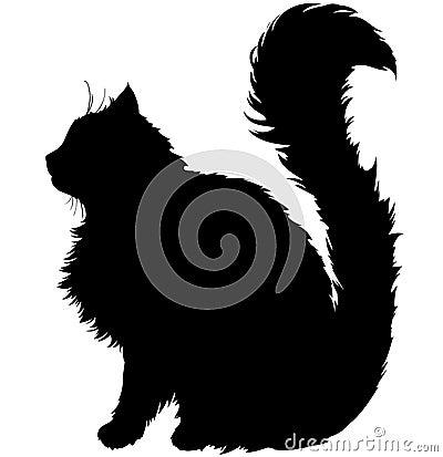Free Silhouette Cat Stock Image - 42090041