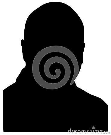 Silhouette chauve d homme
