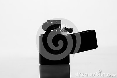Silhouette of a cigarette lighter