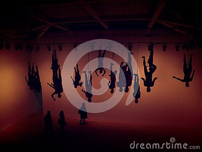 Silhouette Of Circus People Free Public Domain Cc0 Image