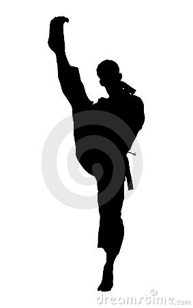 Silhouette With Clipping Path