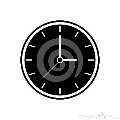 Free Silhouette Clock Time Watch Work Icon Stock Image - 81299781