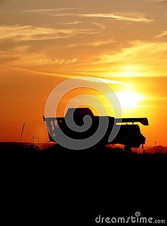 Silhouette - Combine Harvester