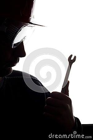 Silhouette d un ouvrier