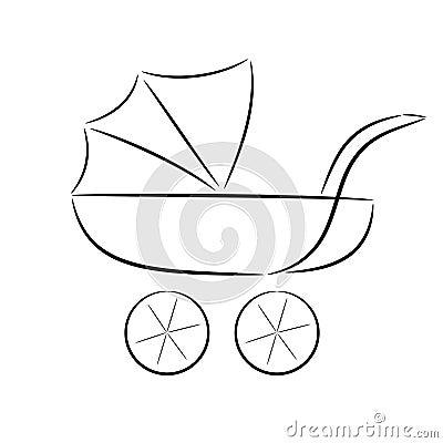 Silhouette de dessin anim d 39 un landau image stock image - Dessin d un car ...