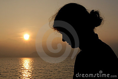 Silhouette de fille