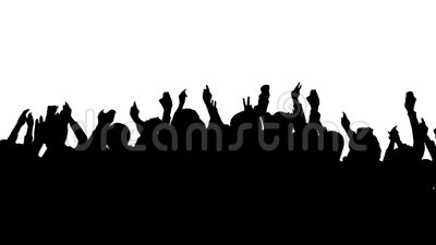 Silhouette de foule illustration stock