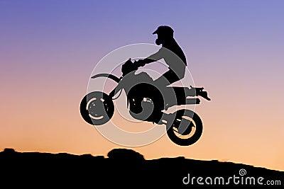Silhouette de motocyclette