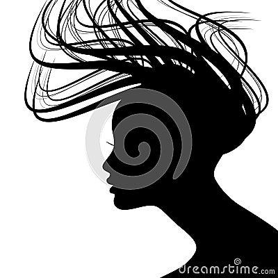 Silhouette de visage de femme