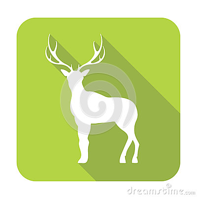 Silhouette of the deer Vector Illustration