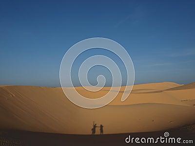 Silhouette in desert
