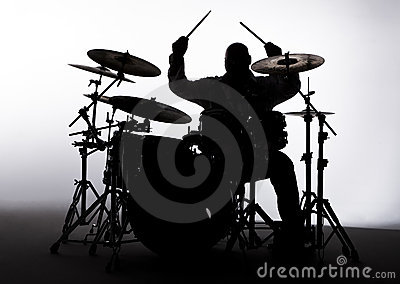 Silhouette of a Drummer