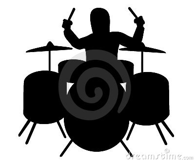 Silhouette of drummer
