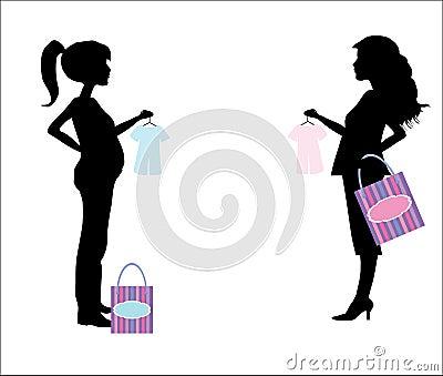 نصائح للتخفيف من ألم الظهر أثناء الحمل Silhouette-enceinte-de-femme-d-achats-thumb15453980