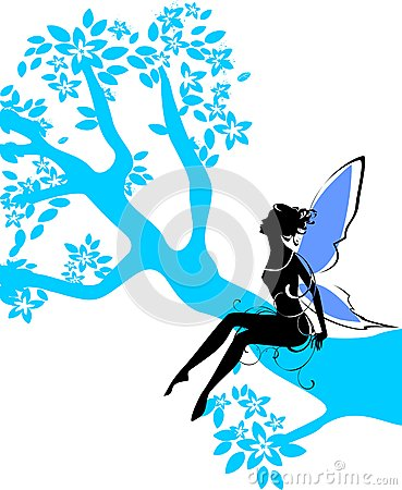 Silhouette of fairy