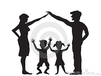 The Silhouette of family symbol