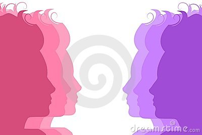 Silhouette Female Faces