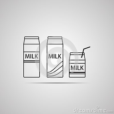 Free Silhouette Flat Icon, Simple Vector Design With Shadow. Carton Of Milk With Text Milk Stock Image - 105691851