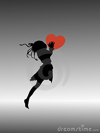 Silhouette of flying fairy