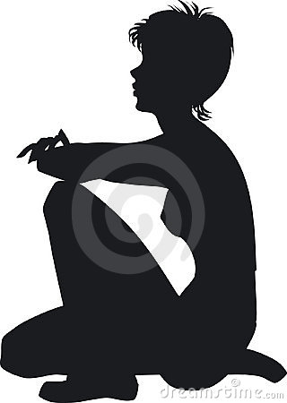 Silhouette of the girl