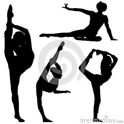 Silhouette Gymnast Girls Stock Photos Image 16473103