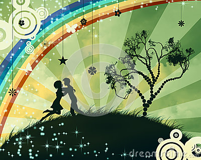 Couple under the tree
