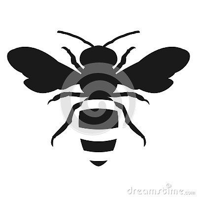 Free Silhouette Honey Bee Icon Flat Design Royalty Free Stock Images - 104069769
