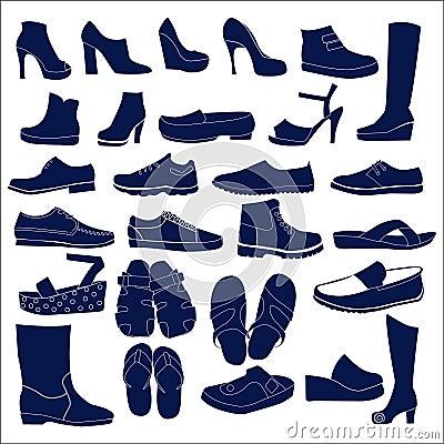 Free Silhouette  Icon Set Royalty Free Stock Image - 38783856