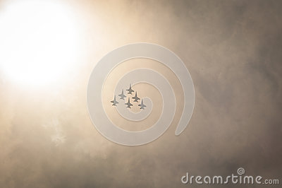 Silhouette Of Jets In Clouds Free Public Domain Cc0 Image