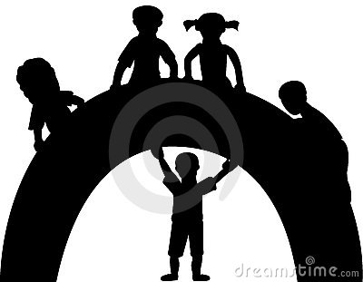 Silhouette of kids