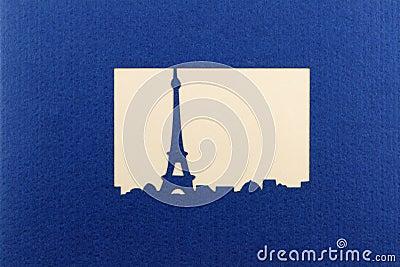 Silhouette of la tour eiffel
