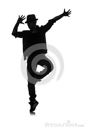 Silhouette of male dancer