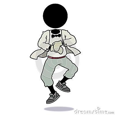 Silhouette-man dancing gangnam style