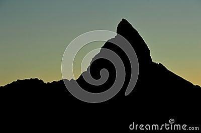 Silhouette of Matterhorn