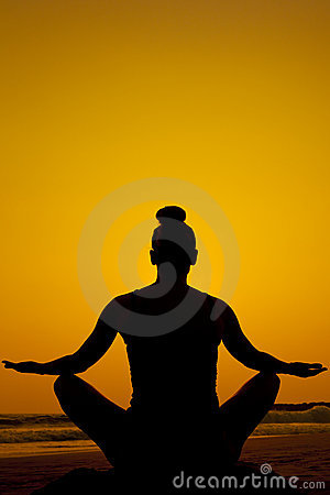 Silhouette meditation/yoga pose