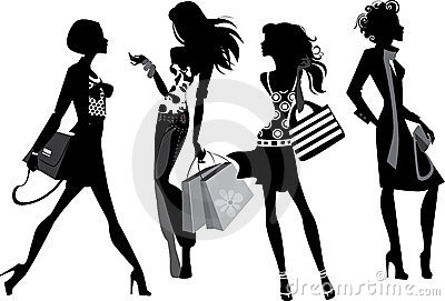 Silhouette of a modern women