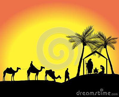... of the nativity scene with the three wise men in the desert