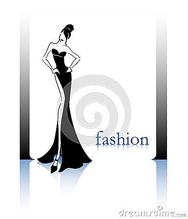 Silhouette noire de mode