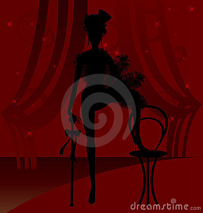 Free Silhouette Of A Cabaret Dancer Stock Photo - 19478110