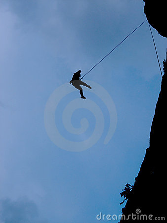 Free Silhouette Of A Climber Royalty Free Stock Image - 1863546