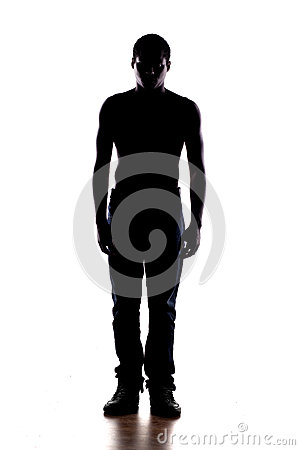 Free Silhouette Of A Man Royalty Free Stock Image - 58712616
