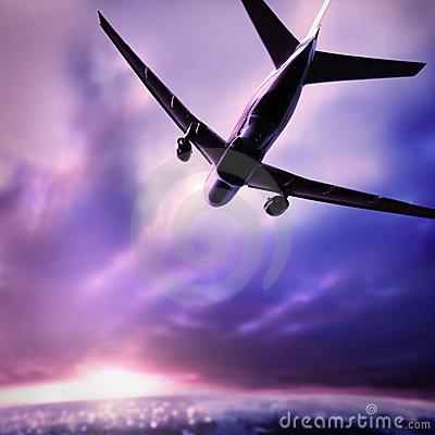 Free Silhouette Of A Plane Royalty Free Stock Image - 2671776
