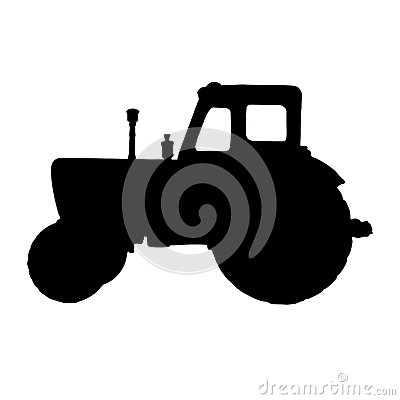 Free Silhouette Of A Tractor Royalty Free Stock Photography - 52016677