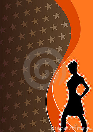 Free Silhouette Of A Woman  Royalty Free Stock Images - 4900229