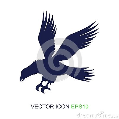 Free Silhouette Of An Eagle On A White Background. Logo. Side View Of An Eagle. Vector Illustration. Stock Image - 113126711
