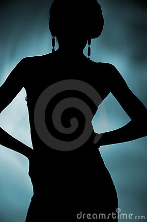 Free Silhouette Of Attractive Slim Woman Stock Photography - 18465272